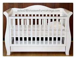 white wooden royal style baby sleigh crib buy baby crib new
