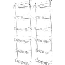 Back Of Door Storage Kitchen Amazon Com Trademark Home Vinyl Steel 5 Feet Overdoor Storage