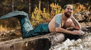 men calendar bearded guys pose in mermaid calendar to raise funds for therapy