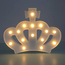2017 the crown 3d night light led lamp creative wall lamp kids