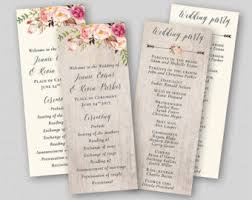 template for wedding ceremony program floral wedding program template whimsical wedding ceremony