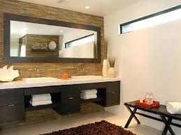 modern office bathroom w wall mirror in warm cinnamonwood framed bathroom mirrors uk diy