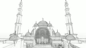 3d mosque sketch animation by handroxg videohive