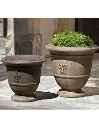 Garden Fountains And Outdoor Decor Fleur De Lis Urn Set Outdoor Decor