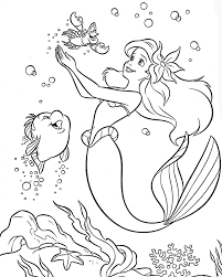 mermaid with free mermaid coloring pages creativemove me