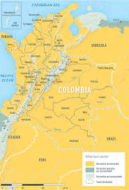 Columbia On World Map by Nathnac Colombia