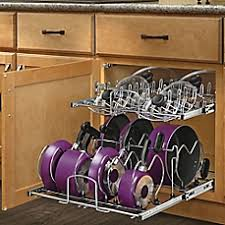 Pots And Pans Cabinet Rack Cabinet Organizers Bed Bath U0026 Beyond