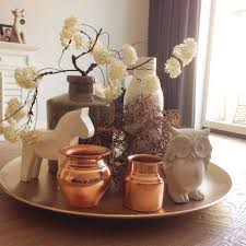 Coffee Table Tray by Dienblad Met Witte En Kopere Accessoires Salontafel Coffeetable