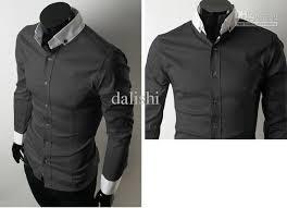 2018 mens dress shirts sleeve shirt cotton black from dalishi