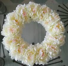 decorative wreaths for the home decorative flowers wreath 16 inches white penoy wreaths home