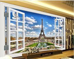 3d mural wallpaper window tower 3d room wallpaper landscape 3d