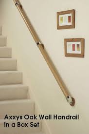 Banisters And Handrails Axxys Wall Handrail In A Box Set Available In Pine Beech And Oak