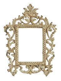 Iron Home Decor Vintage Shabby Chic Iron Picture Frame Chairish