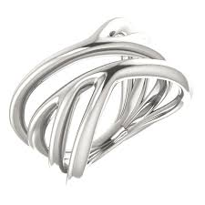 free wedding band sterling silver freeform rings