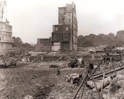 1960 construction site with one house u2013 london hilton on park lane