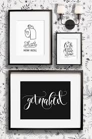 Black And White Bathroom Decor Ideas Printable Bathroom Wall Art From The Crown Prints On Etsy Lots