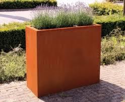 Corten Steel Planter by Corten Steel Planters Troughs Cylinders Cubes Bespoke The