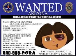 dora the explorer wanted poster pictures