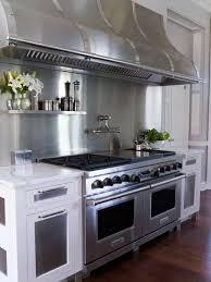 Kitchen Range Backsplash Kitchen With Large Gas Kitchen Stoves And Metal