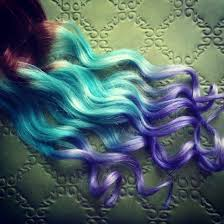 Colored Hair Extension by Pastel Clip In Hair Extensions Ombre Hair Mint Purple Tie