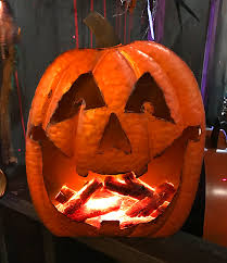 light up pumpkins for halloween glowing flames light up metal hammered jack o u0027lanterns pumpkins