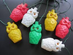 Owl Patio Lights Vintage Owl Patio Lights Mold Retro Plastic By Thisattic