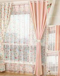 striped lines butterfly pattern pale pink curtains