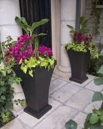 urn planters bordeaux tall resin planter black urn planters