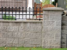 Garden Wall Railings by Decorating Walk Step Basalite Concrete Products Matched With