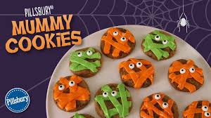 how to make pillsbury mummy cookies youtube