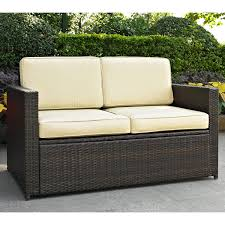 furniture bayshore outdoor wicker loveseat for patio furniture ideas