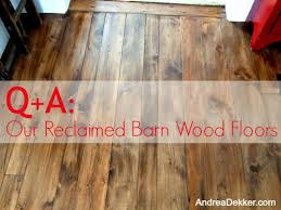 using old barn wood for flooring