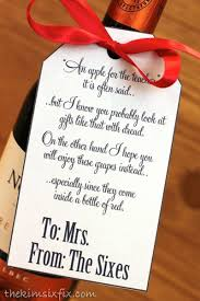 give a teacher what they really need wine poem teacher and bottle