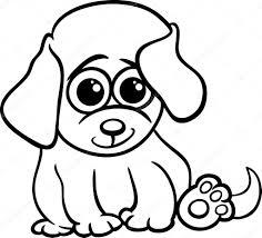 baby puppy cartoon coloring page u2014 stock vector izakowski 36735119