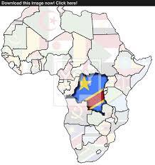 Congo Africa Map Congo On Africa Map Image Yayimages Com