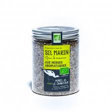 sel de cuisine guérande sea salt with aromatic herbs 250g box gaec l