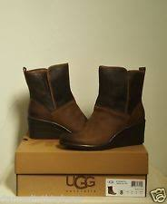 ugg renatta sale ugg australia leather wedge booties for ebay