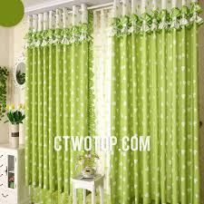 Green Kids Curtains Cute Custom Beautiful Aqua Heart Patterned Kids Curtains On Sale