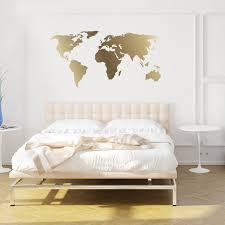 world map decal gold kiss cut chromantics lightbox moreview
