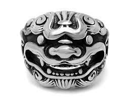 mens stainless steel rings mens stainless steel dogz biker rings