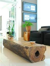 Tree Trunk Table Classic Style Solid Rustic Tree Trunk Coffee Table Design With
