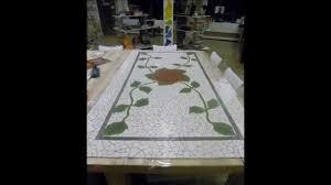 how to make a mosaic bathroom floor youtube