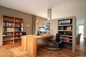 Home Office With Two Desks Best Modern Home Office For Two Pictures Liltigertoo