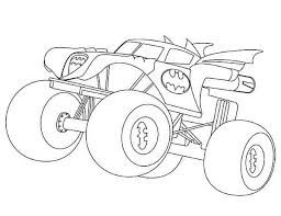batman monster truck coloring page kids play color coloring