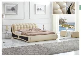 King Size Leather Bed Frame Luxury Bedroom Furniture King Size Bed Leather Material Wooden