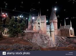 Hogwarts by A Model Of Hogwarts Castle From The Harry Potter Film Series Is