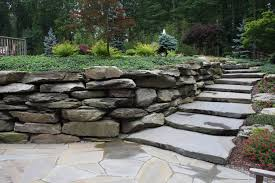large slab stone staircases hickory hollow landscapers