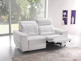 Electric Recliner Sofa Best White Leather Reclining Sofa White Leather