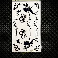 kids temporary tattoo elf fairy designs waterproof henna temporary