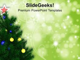 green christmas powerpoint templates